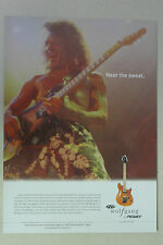 EDDIE VAN HALEN Peavey Wolfgang Guitar Full Page AD magazine clipping
