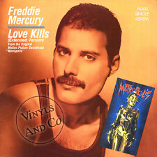"FREDDIE MERCURY - Love Kills [Extended] Vinyl MAXI 45 TOURS 1984 Maxi-Single 12"""