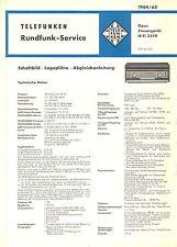 Telefunken Service Manual für Opus 2550