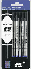 5 MONTBLANC BLUE MEDIUM POINT  ROLLERBALL REFILLS NEW IN PACK