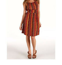 Lucky Brand Summer Nights Jordana Dress Size X-Large NWT Red Multi Color