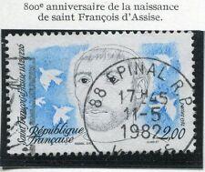 TIMBRE FRANCE OBLITERE N° 2198 SAINT FRANCOIS D'ASSISE / Photo non contractuelle