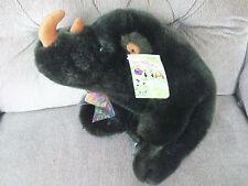 Skm Enterprises Boo Boo Pals Rhino Rhinoceros Super Soft Dark Brown Plush Ecwt