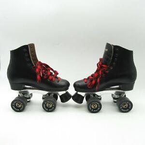 VTG Black Dominion Marathon II Roller Skates Women's Size 7 American NEI Wheels