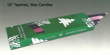 """Four Purple / Pink Advent Candles 10"""" Wax Taper For Your Christmas Season!"""