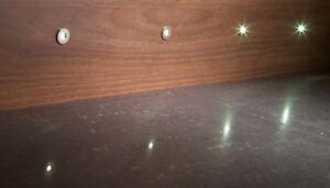 LED KITCHEN PLINTH LIGHT KITS KICK BOARDS COOL OR WARM WHITE - ROUND 15mm