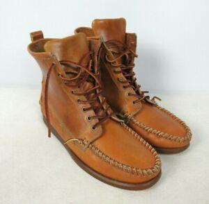 RONNIE FIEG x Sebago Leather Moc Chukka Ankle Boots Tan Sz 10.5 M D Leather