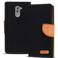 Verco Hülle für Honor 6X Schutzhülle Textil Tasche Flip Cover Handy Case