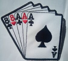 embroidered iron on sew on poker card patch patches iron on for clothes