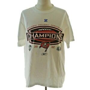 Reebok NFL Tampa Bay Buccaneers 2002 NFC champions t-shirt men's medium white