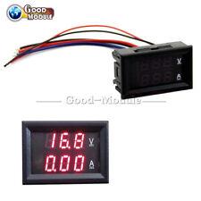 Voltmeter Ammeter DC 100V 10A Red LED Panel Amp Dual Digital Volt Meter Gauge G