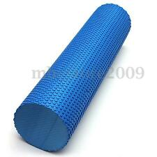 90x15cm Blue EVA Yoga Massage Floating Point Foam Roller Exercise Fitness Gym