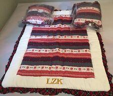 Ralph Lauren Cream,Red & Blue 100% Cotton Baby Sleeping Layette Wt 2 Pillow Set