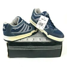 Vintage adidas Bukit K Mens 7 E Wide Skateboarding Blue Suede Shoes Dead Stock