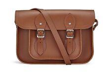 "Cambridge Satchel Company Classic 11"" Satchel Messenger Brown Leather Bag"