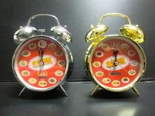 "F/S loop alarm clock analog loud 6.6 "" Gyoza no Ohsho 50th Silver gold Watch JP"