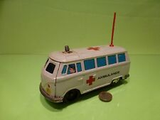 VINTAGE TIN BLECH VW VOLKSWAGEN T1 BUS  - AMBULANCE - NICE CONDITION