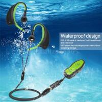 8GB MP3 Music Player Waterproof Underwater Swimming Diving w/Headphone Clip M2Y0