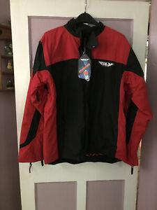 Fly Racing Men's Snow Aurora Snowmobile Snocross Winter Jacket Red/Black Large