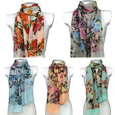 Flowers Design Floral Viscose Large Ladies Scarf Shawl Sarong Wrap