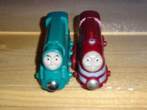 Thomas & Friends Wooden Tank Engine Train CAITLIN & CONNOR EUC/no Tenders
