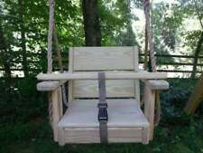 Recycled Wood Toddler Swing Pine Wood Toddler Swing 10 Feet of Rope Each Side