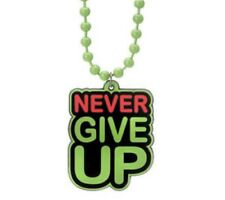 WWE WRESTLING JEWELRY PENDANT NECKLACE,NEW,JOHN CENA Never Give Up