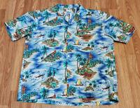 Vintage Royal Creations Hawaiian Shirt Adult XL Aloha Camp Surf Magnum PI Rare