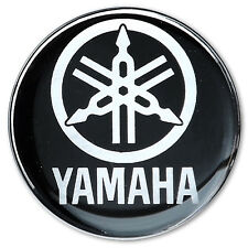 *1PC. YAMAHA WITH WORD  RESIN COAT ON CHROME STICKER DECAL CENTER WHEEL