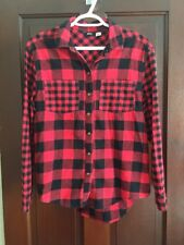 BDG. Urban Outfitters extra small red/black checkered button down top