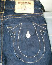 *HOT! AUTHENTIC Men TRUE RELIGION @ JOEY BIG T FLARED BOOTCUT DARK Jeans 29 x 34