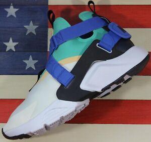 Nike Air Huarache City Men's 11.5  Women's 13 Shoe White/Green/Blue [AH6787-103]