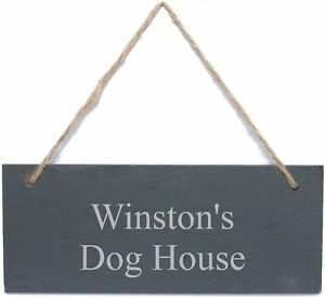 Personalised Engraved Slate Garden Shed or Door Sign Plaque - Any Message
