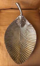 Konga Leaf Platter Med 88884B Vintage India VTG Serving Designer Medium