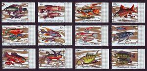 Guinea 1971  Fishes ** MNH complete set (12v) Mi.16,0 Euro