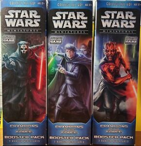STAR WARS MINIATURE CHAMPIONS OF THE FORCE BOOSTER PACK NEW SEALED (WOTC)