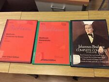Beethoven Piano Pieces and Variations for Piano, Brahms Complete Concerti Music