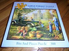"""NIB BITS AND PIECES Large Format 300 Piece Puzzle 18"""" x 24"""" Sealed"""