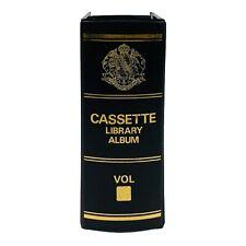 VINTAGE AUDIO CASSETTE STORAGE CASE SHELF BOOK VINYL LIBRARY ALBUM