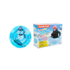 """38"""" Inflatable Snow Tube with 2 Handles Freeze Resistant -25℃, 120lbs Capacity"""