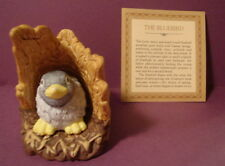 Jacqueline Smith Woodland Surprise 1984 Franklin Porcelain BLUE BIRD in nest