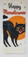 Vintage Retro Style Halloween Black Cat Kitchen Dish Towel New