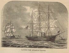Ships Laying the Transatlantic Telegraph Cable -1869 Historical Page