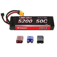 Traxxas E-Revo 50C 3S 5200mAh 11.1V LiPo Battery with UNI Plug by Venom x2 Pack