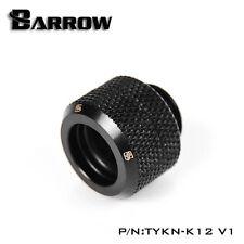 "Barrow G1/4"" Matte Black Compression Fitting For 12mm Rigid Tubing - 041"