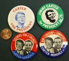 1976 Jimmy Carter for President 4 pin set with 2 Walter Mondale Jugates-VINTAGE!