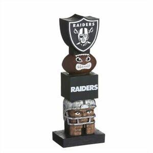 Las Vegas / Oakland Raiders Shield Tiki Tiki Totem Statue NFL - 16 Inch