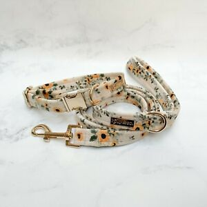 Sunflower Dog Collar & Leash Set