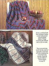 *Chevron Shells Afghan + Hearts & Squares Afghan crochet PATTERN INSTRUCTIONS