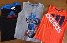 NEW Adidas size 6 Boy sleeveless athletic top LOT NWT sports tee $66 retail